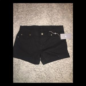 "7 For All Mankind ""A"" pocket black shorts"